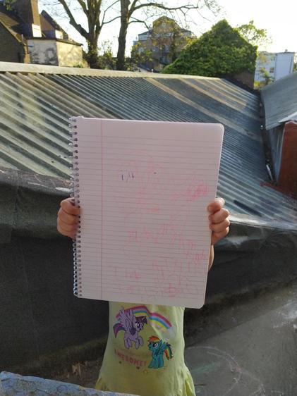 Anna writing