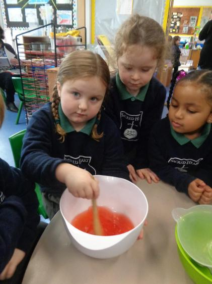 We made jelly to catch Evil Pea, just like in the story!