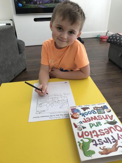 Zack writing