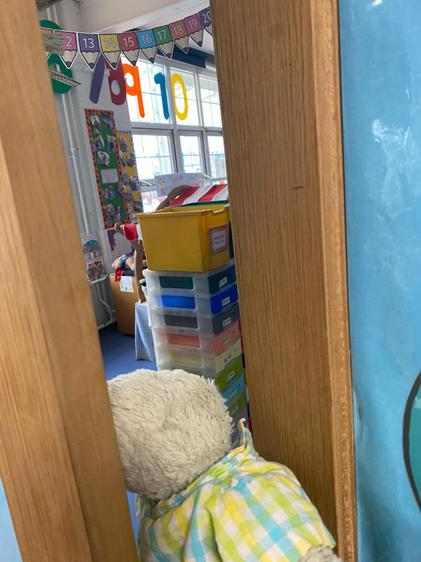 Reggie peeks into Miss Palmer's classroom!.jpeg