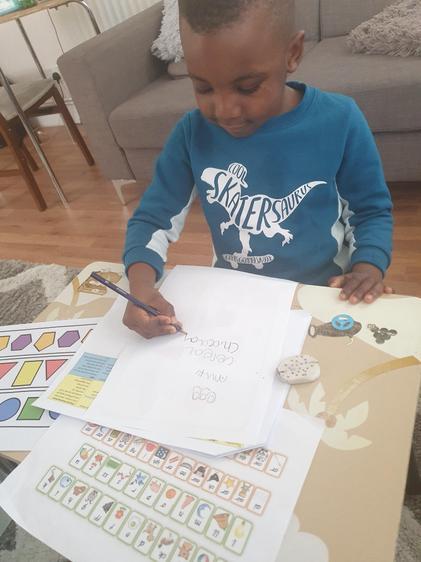 Demilade writes Mum a shopping list!