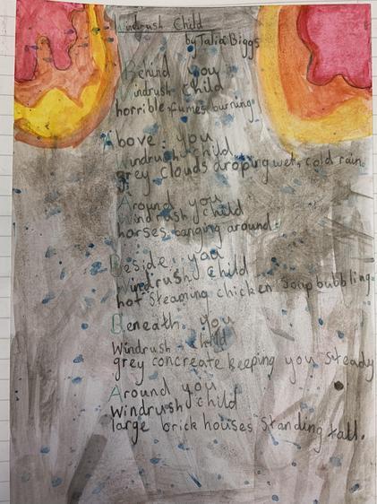 Windrush poem - Talia