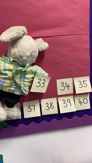 Reggie updates our Lent Countdown Calendar!.jpeg