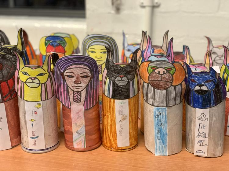 Our completed Canopic Jars