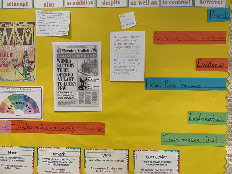 Year 5 Working Wall
