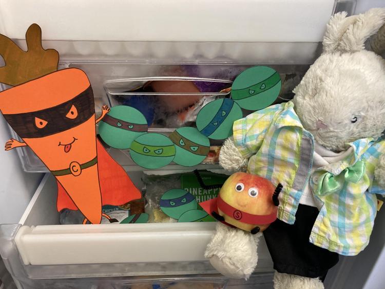 Reggie puts Evil Carrot & the Peas in the freezer!