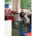Drumming a beat