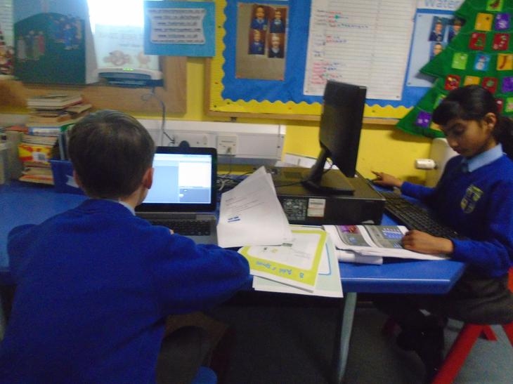 We have enjoyed programming using Scratch.