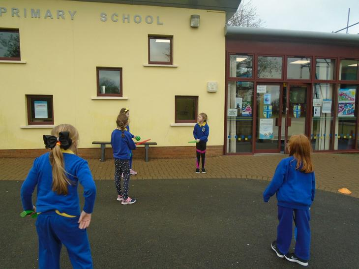 We created our own games in PE.