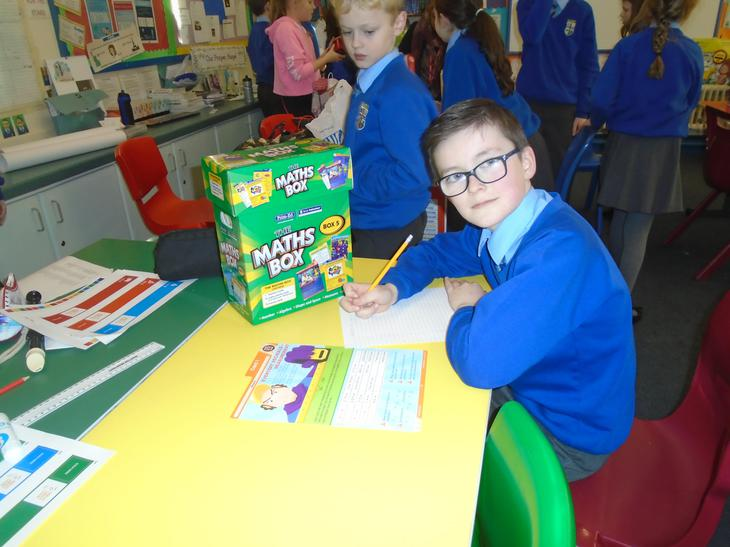 We explore all Maths areas using our new Boxes.