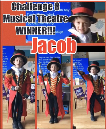 Also in Year 4Jacob W was a musical theatre winner with his Greatest Showman video.