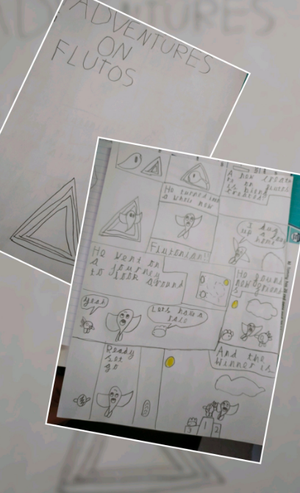 Dawid in Year 2 completed one of our tasks to design his own planet and Mrs Smith mentioned that he could create a comic book about it as a passing thought. Dawid then went on to make the comic book all about the Flutonians that live on planet Flutos!