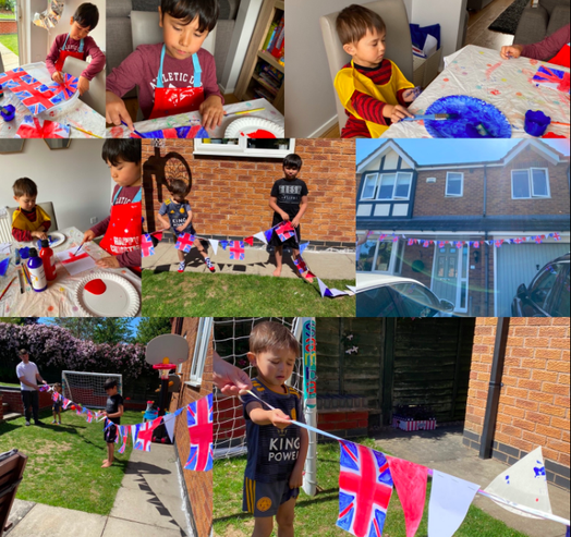 In Year 3, Jacob and his family have made the most incredible VE day decorations that go the length of his garden They are absolutely fantastic.