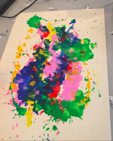 We also loved Bella's painting exploring colour.