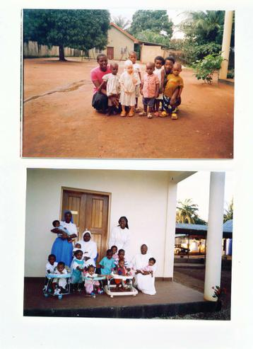 Some of the staff and orphans