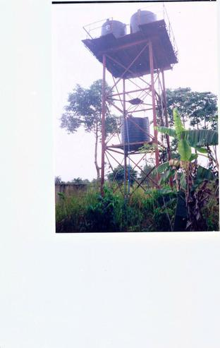 Our second project, a water tower.