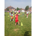 Throwing the javelin