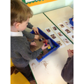 We retold  'the Good Samaritan' in the sand.