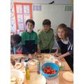 We made bruschettas!