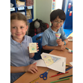 We made 3d shapes using nets