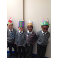 Some fantastic Advent wreath hats made at home!