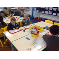 Adding in Maths using a number line.