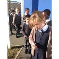 Exploring rocks around school
