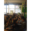 Enjoying our ice lollies to celebrate St. Raphael