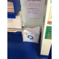 Examples of recycling bins in class