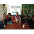 The children took part in a Baptism role play.