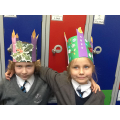 Amazing advent wreath hats made at home!