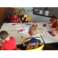 European languages day making German flags.