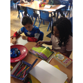 Reading buddies with Year 4 on Book Day