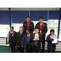 Reading with rugby players!