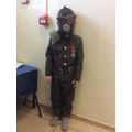 We got to wear a gas mask on WW2 Day!