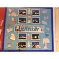Our 'Winter' display of our calligrams & art work