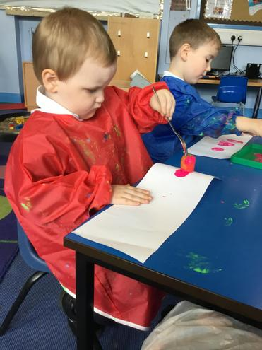 Printing with peppers and observing the shape...