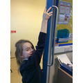 Measuring the length of the door