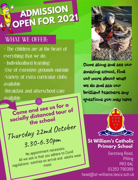Open Evening 22nd October 2020