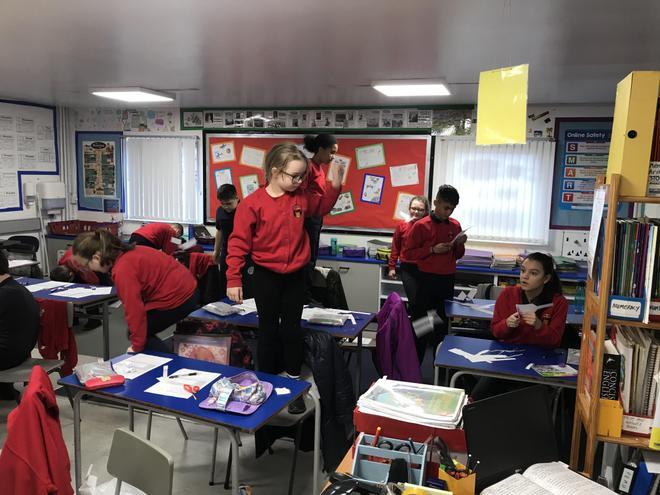 Testing their parachutes