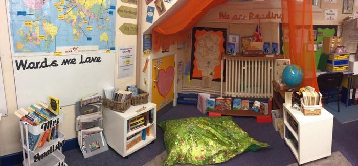 Our Reading Area is used daily by our children and contains a wide range of authors.