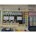 We use our Maths working wall to help us.