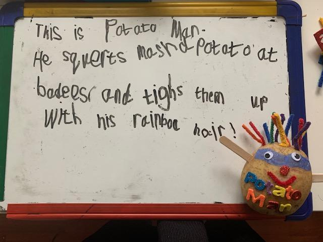Leo has made a fantasic supertato and has done some wonderful writing.