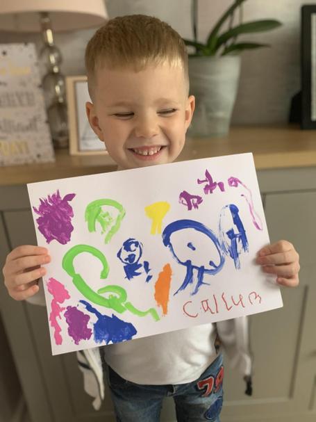 Callum's colourful painting.