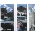 Finley's amazing bunting. Ruby