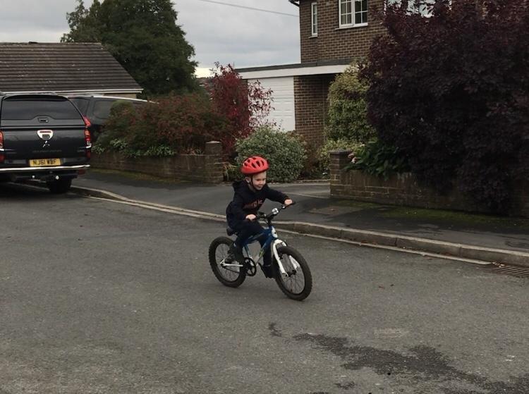 Having fun on your bike.