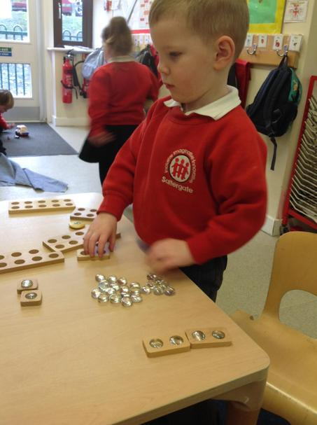 Counting a given number.