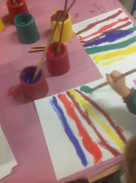 Developing brush skills.