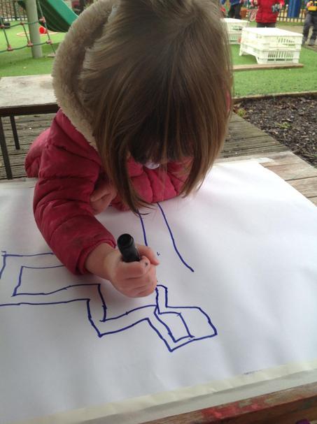 Making a treasure map.