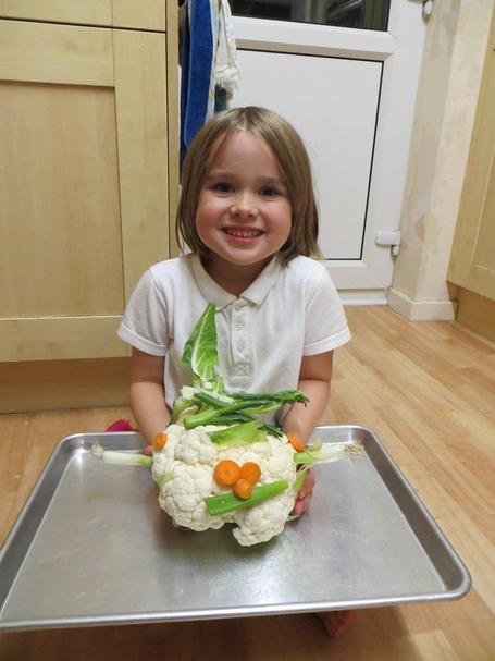 Wow, an amazing Super Cauliflower! Very creative.